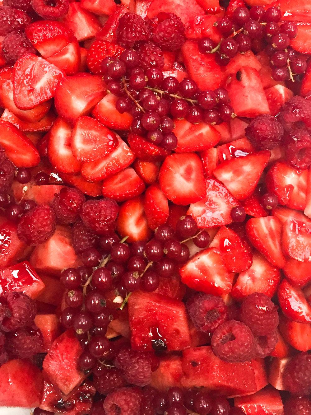 Summertime Red Fruit Salad