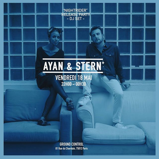 Next week @ayanandstern we're proud to release our next track and music video entitled « nightrider » and play @groundcontrolparis a dj set to celebrate it 🥃🤟📀 #musicvideo #celebration #djset #stern #djstern #ayanandstern #releaseparty #music #celebration #life #paris  Pic by @elodiedaguin