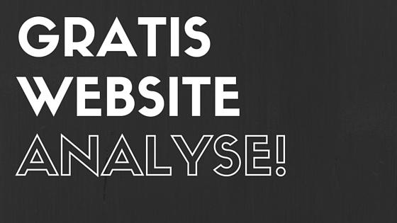 GRATIS website analyse - is uw website klaar voor sociale media?