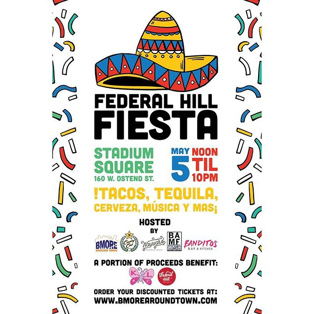 : 🚨 ATTENTION PEEPS!🚨 • This Saturday! We celebrate Cinco de Mayo in Federal Hill Fashion! c/o @bmorearoundtown 🎈🎊 • In case you forgot ~ it's Tuesday = 🌮 . . . #cincodemayo #fedhillfiesta #bmorearoundtown #festival #fiesta #livemusic #tacotuesday #federalhill #sobo #baltimore #mybmore #banditosbk #forkithospitality