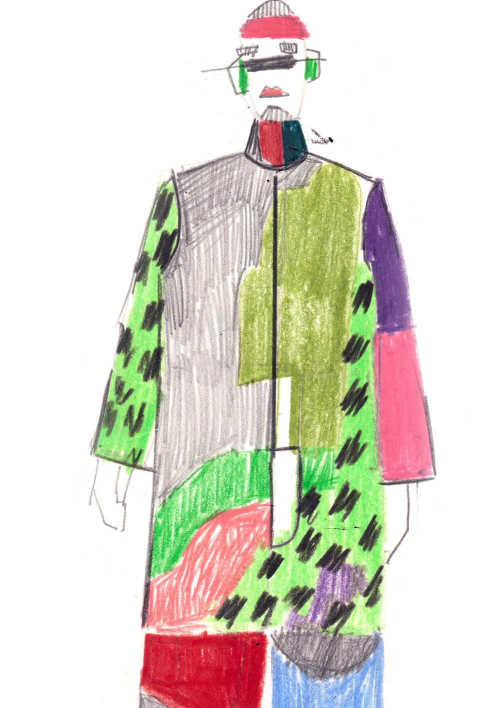 sketch from previous collection by: Marie-Sophie Beinke
