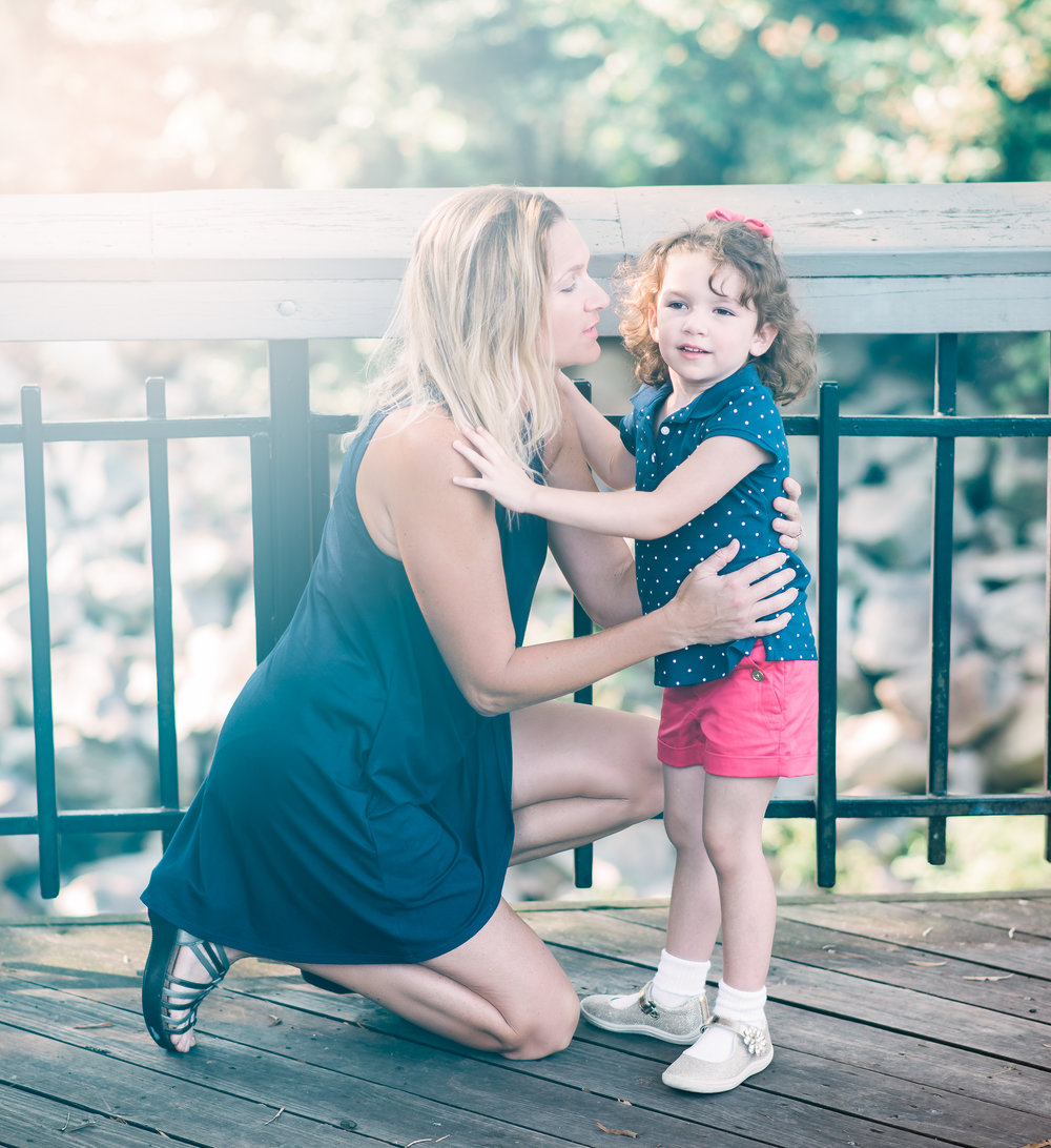 Me trying to convince my daughter to wait a little longer for our annual family photo shoot - I had just chased her down, you see what a mess my hair is in! It is hard to do a photo shoot and be in it, especially with little ones!