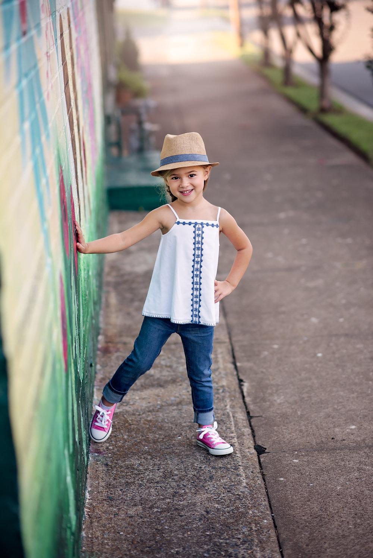 Child Portrait, Downtown Fort Mill, SC
