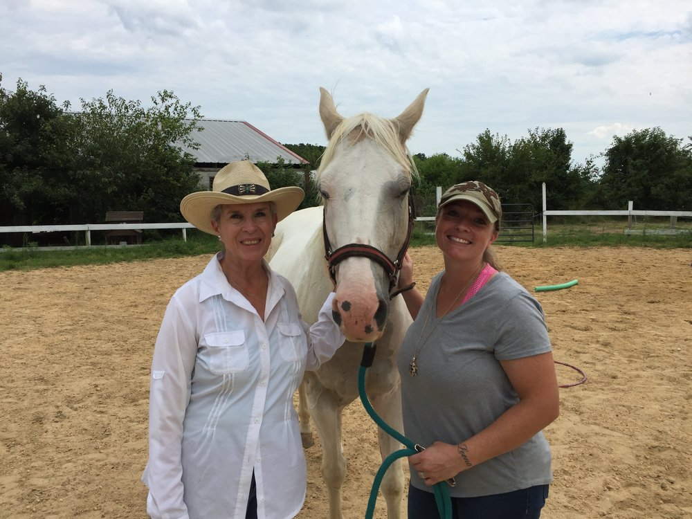 Betsy Hickok, Learn with Horses Director, and Kristy Alvarez, Equine Specialist