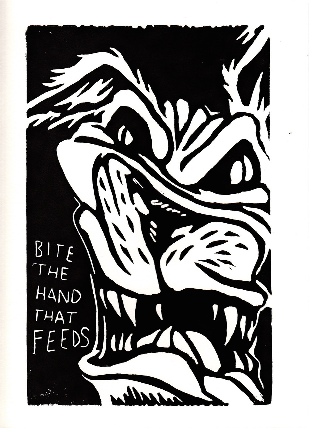 "Bite the Hand that Feeds 5x7"" Card"
