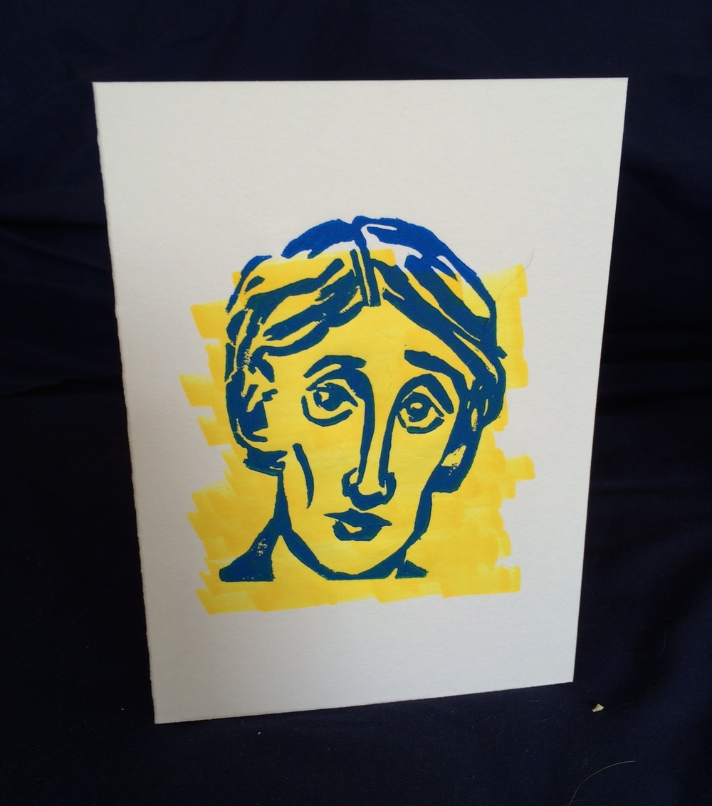 "Virginia Woolf 5x7"" Card"