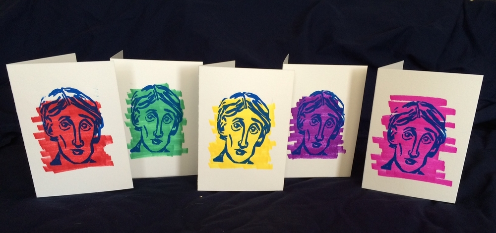 "Virginia Woolf 5x7"" Card Set"