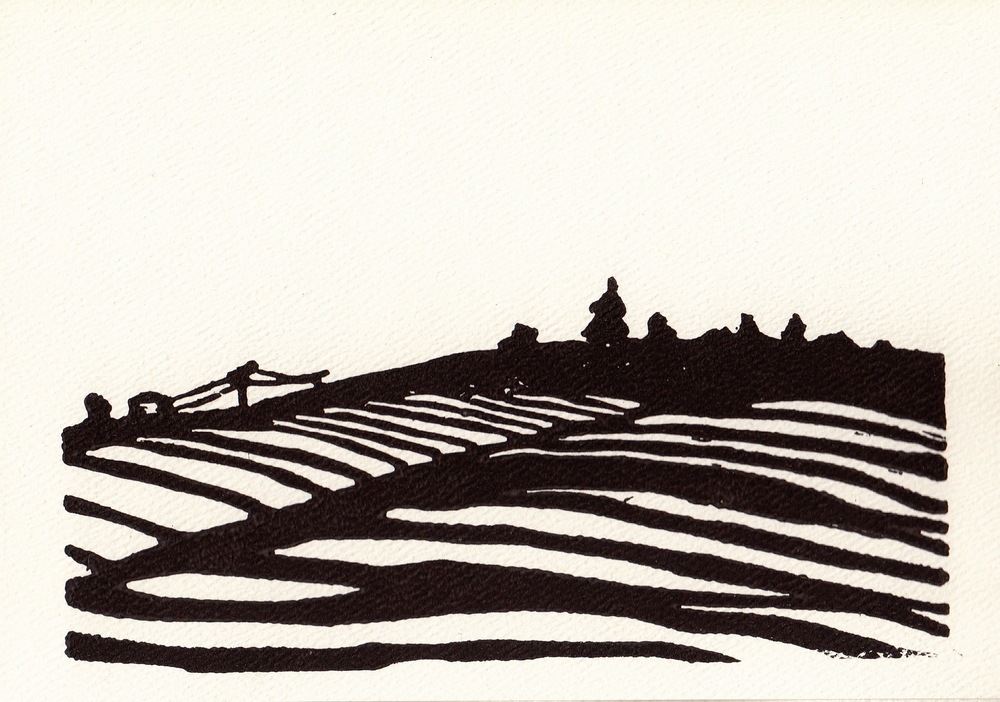 "Iowa Landscape 5x7"" Card"