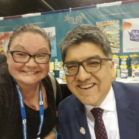 Jen with Sherman Alexie at a recent conference
