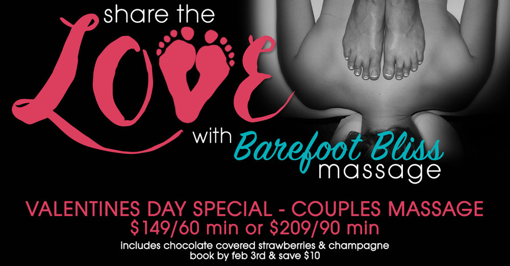 Enjoy spending a tranquil, stress relieving hour (or even better 90 minutes) along side the one you love! Complete with champagne & chocolate covered strawberries Space is limited so call right away to reserve your spot.  Available February 11th only Book before February 3rd and receive an additional $10 off. Call 949-208-0200