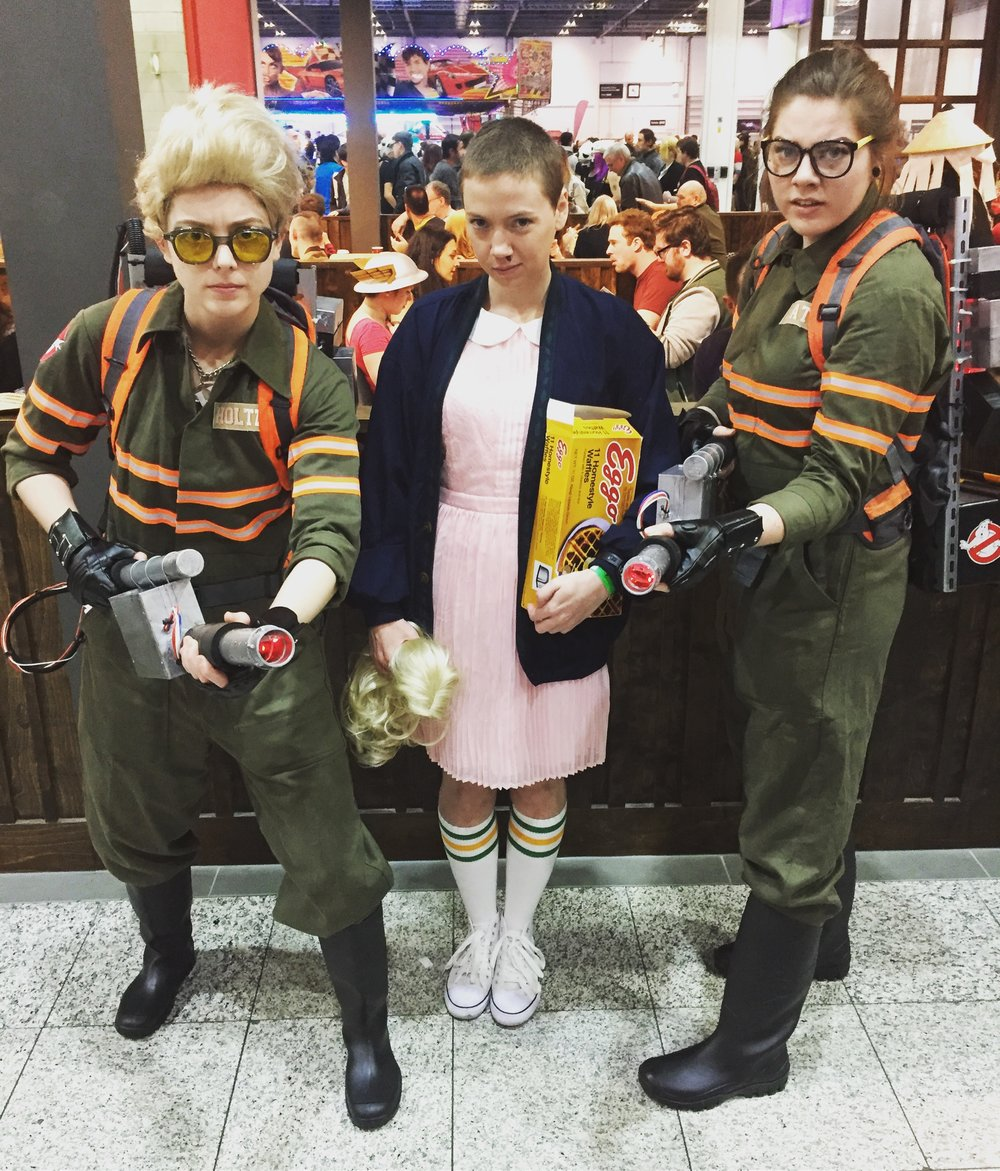 Amazing Eleven cosplayer, complete with Eggos!