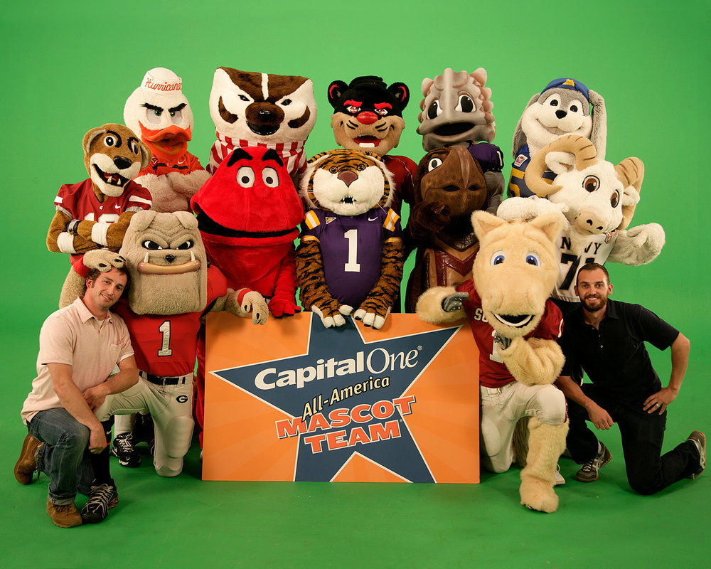 For 5 years straight, I helped Capital One launch the NCAA Mascot Challenge. Needless to say, it was a blast. Especially when you're doing it with your brother.
