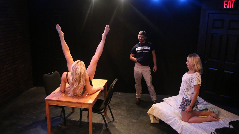 Pauline Sherrow as Pornstar, Jacob Sebastian as Pornstar, Sarah Raimondi as Ariel Cox