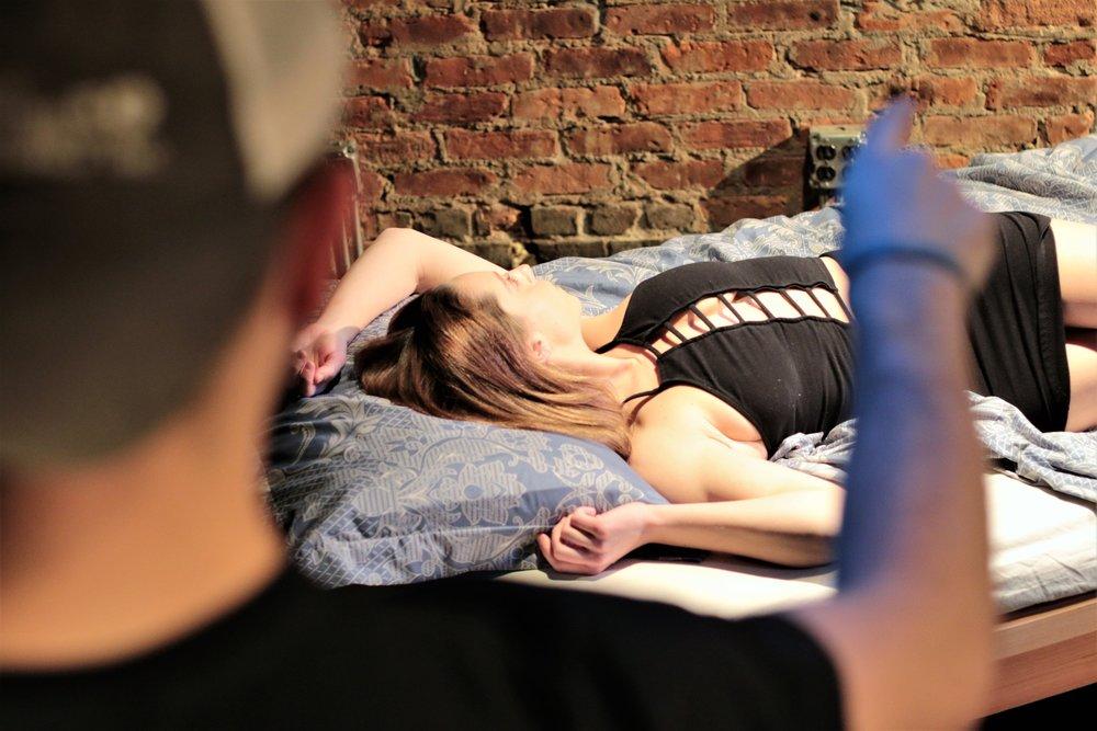 Jacob Sebastian as Pornstar, Sarah Raimondi as Ariel Cox