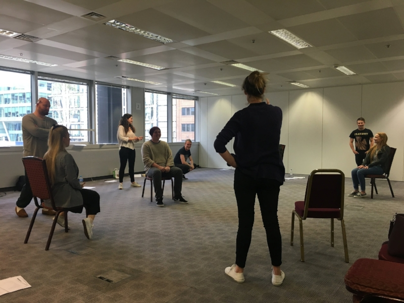 ARDENT8 - Workshop 9   Thursday 10th May 2018  A workshop led by Cressida Brown Artistic Director of award winning Offstage Theatre and a freelance director. The Ardent8 worked on scenes from contemporary and classical texts.   Click Here  for more information on Cressida Brown.