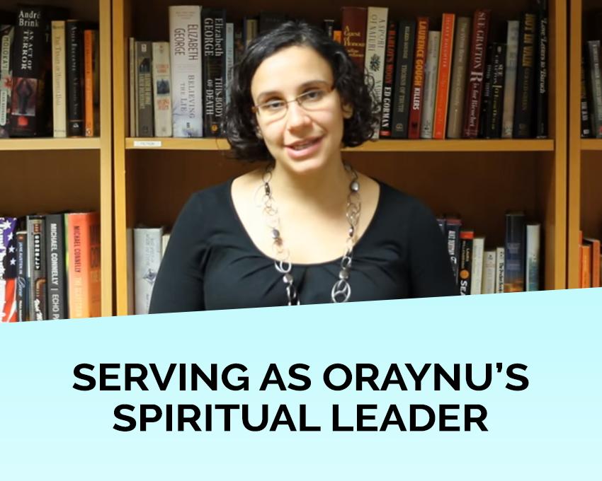 Rabbi Denise Handlarski serves as Oraynu's Spiritual Leader and Program Director.