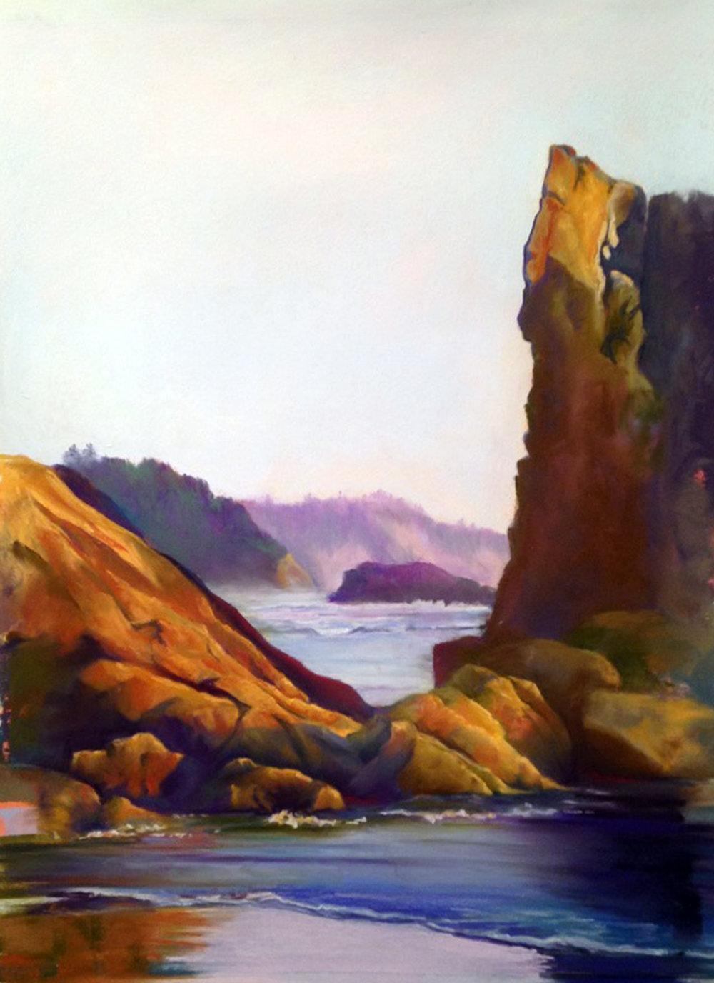 """Manzanita Sunset, Pastel, 20x12"""""""