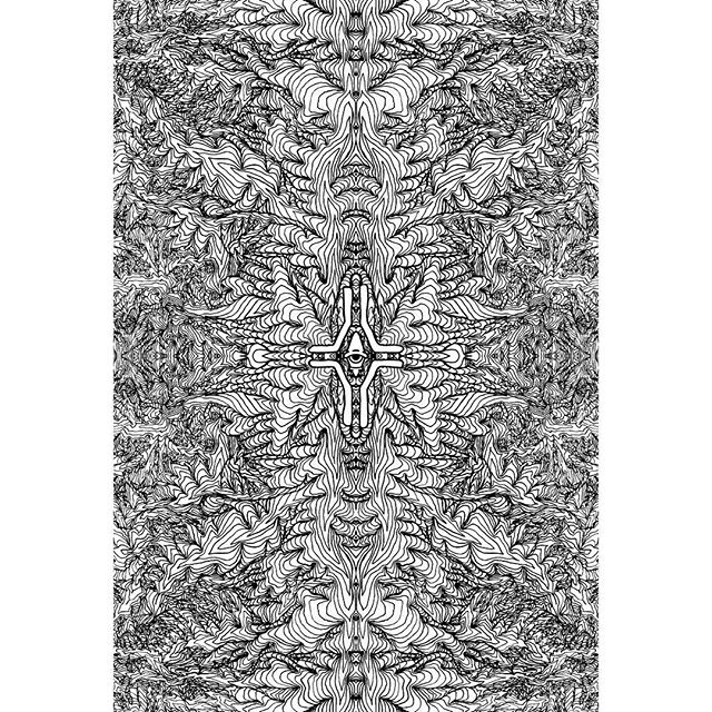 Left handed fractal mandala. Back when my right hand was broken for over a year, this was how i practiced drawing with my left... adding zai and the mirroring was done digitally afterwards.  @zatisskates  #blackink #pen #abstractart #blackillustration #fractal #drawing #mandala #blackwork #ink #psychedelic #zatis