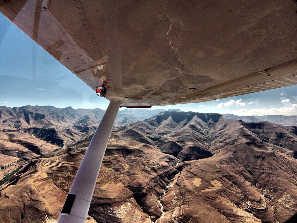 I was able to join a MAF pilot for a flight over the mountains in Lesotho. Its amazing how isolated so many villages are.
