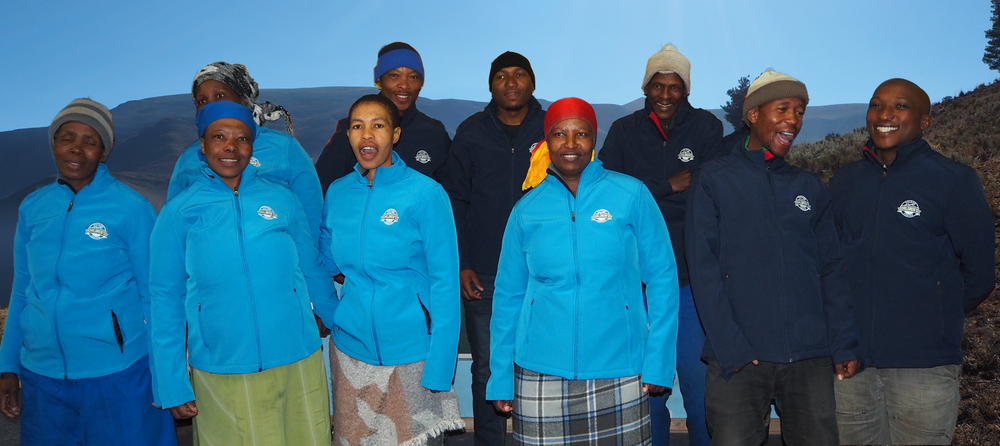 A few of our staff, very happy and looking good in their new jackets!