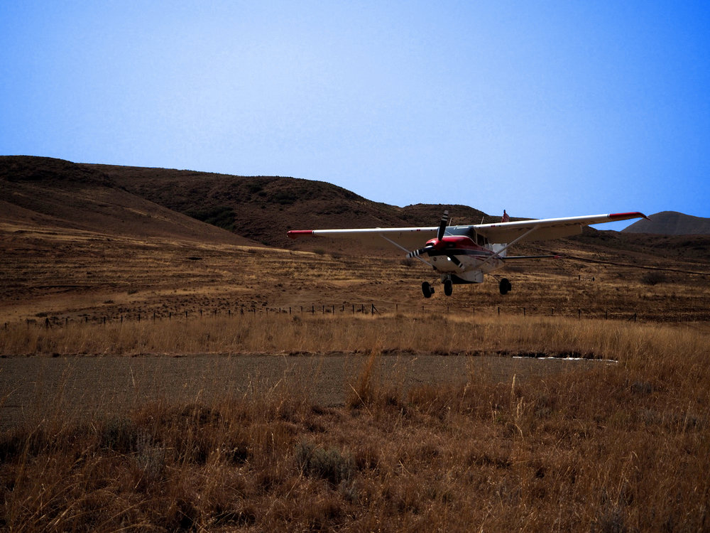 On of MAF Lesotho's planes landing at Nkau