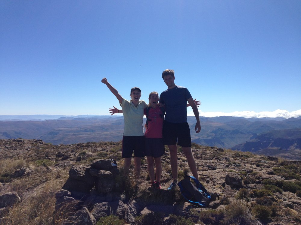 Caro, Tarryn and Morgan on the summit of Thaba Putsoa