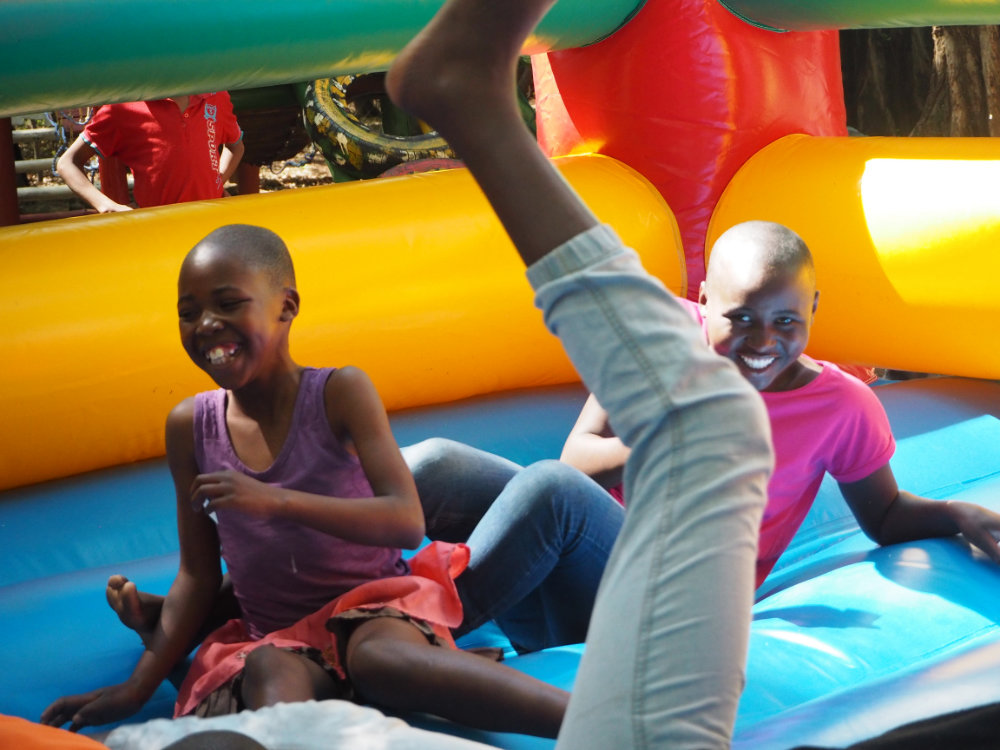 We had a jumping castle donated this month! Endless fun.