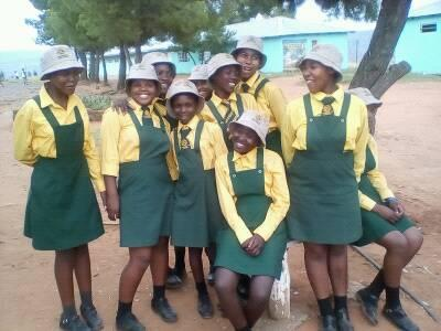 So many girls now at Masirebane high school in Mt Moorosi