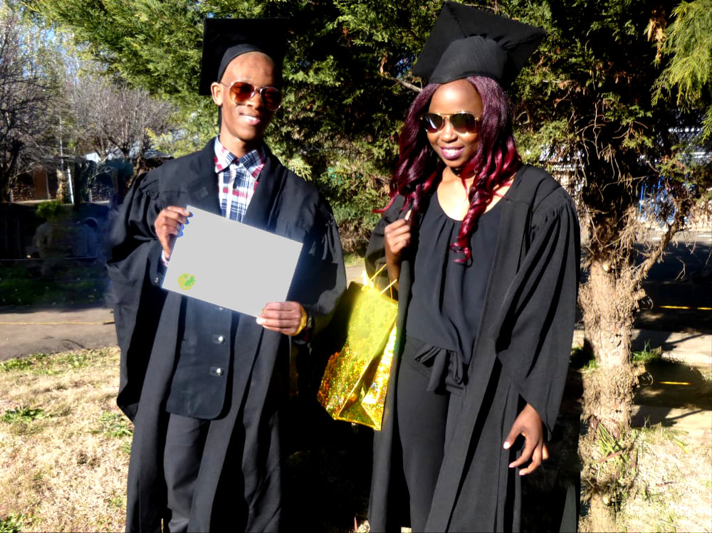 Bokang and Mankoebe graduate from Bethel vocational school
