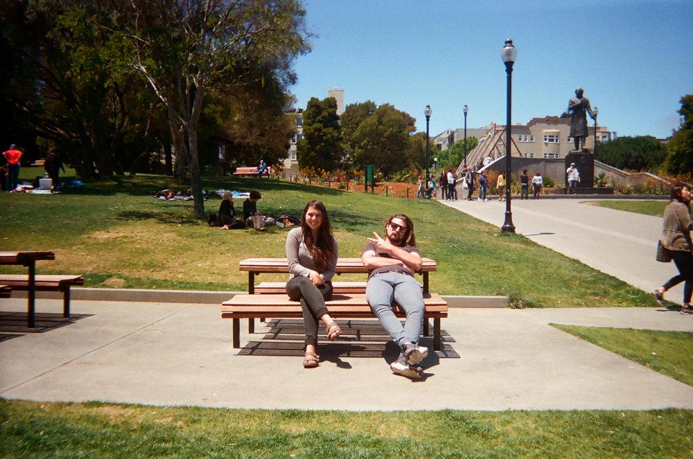 B + L at Dolores Park. San Francisco, CA.