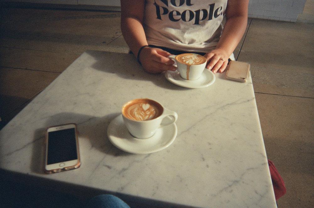 Eightfold Coffee with Liz.  Los Angeles, CA.