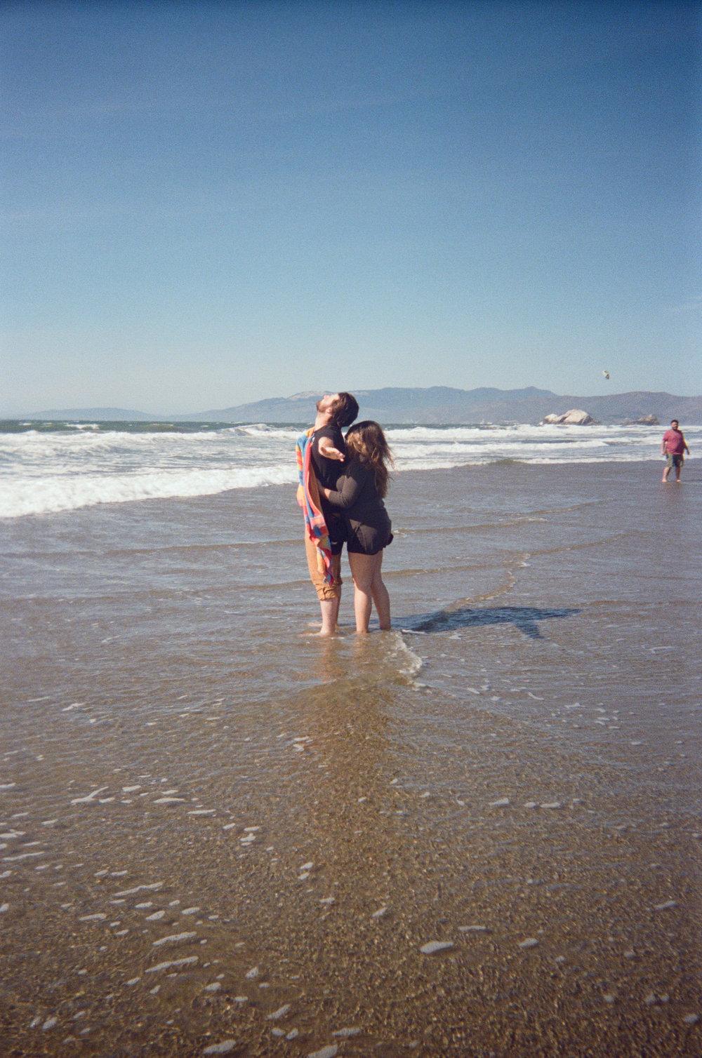 The windiest beach day.  San Francisco, CA.