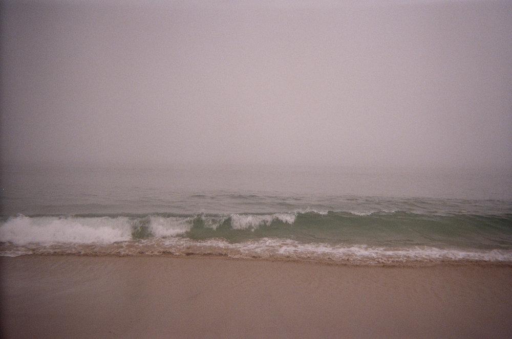 Foggy morning at Venice Beach.  Los Angeles, CA.