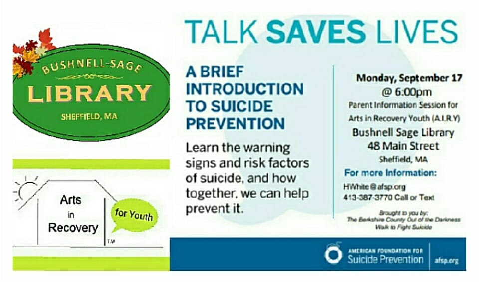 Local Events — Berkshire Coalition for Suicide Prevention