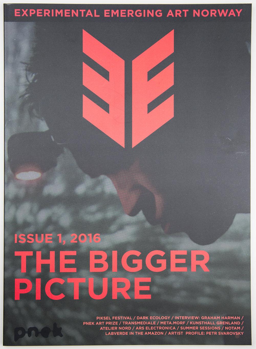 EE Experimental Emerging Art #1 : The Bigger Picture  Stahl Stenslie, Zane Cerpina (eds.). PNEK, 2017. ISSN: 2464-448X  eejournal.no