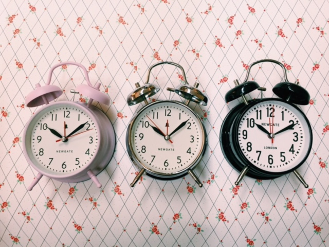 Retro alarms for a gentle wake-up call.