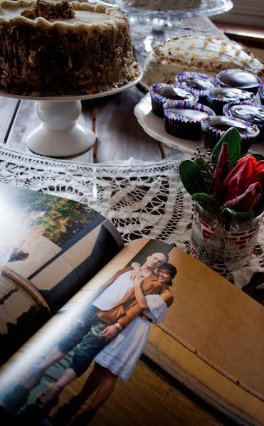 print floral tablescape dessert table