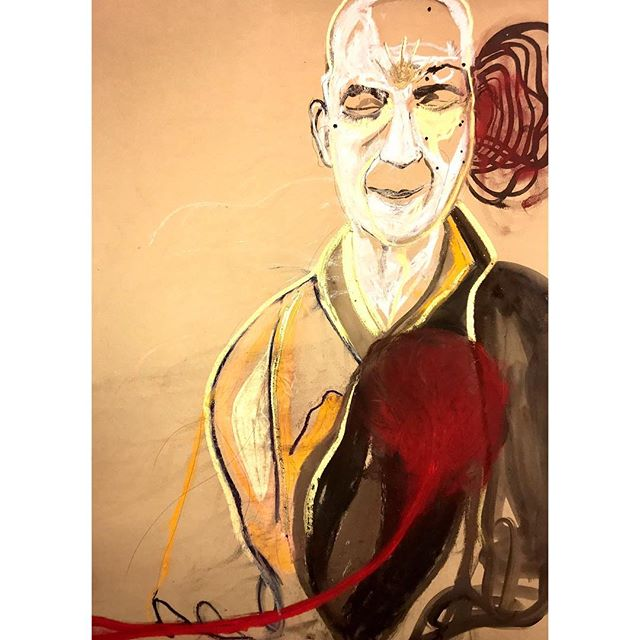 kazuo. #danvypham #kazuo #laartist #womenartists #art #artoninstagram #watercolorpastelsandpencil