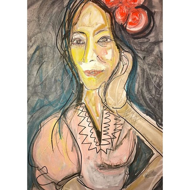 the self, reflected. #danvypham #theselfreflected #laartist #art #womenartists #painter #artoninstagram #artofinstagram #watercolorpastelsandpencil