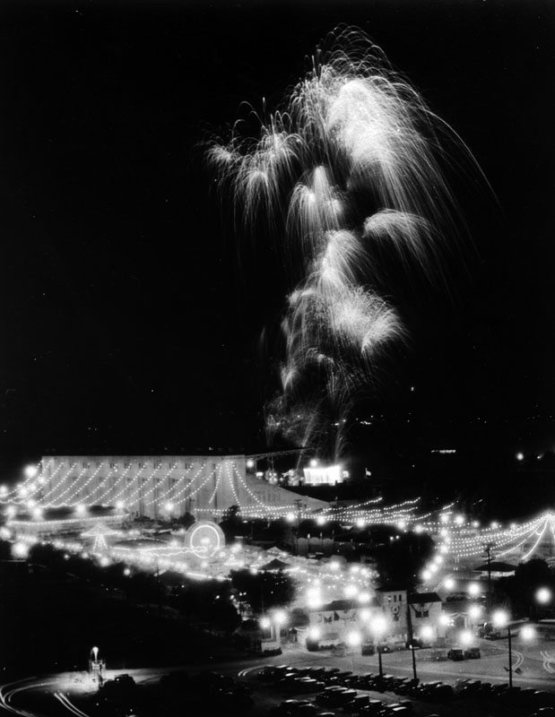 New Year's Eve Fireworks photo courtesy Los Angeles Public Library Archives