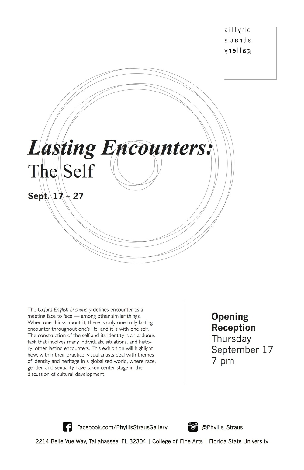 Lasting Encounters Exhibition Poster