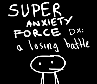 Super Anxiety Force DX is a game about stress and anxiety. We have plenty of epic games about being awesome and powerful. We need more miniplot games about being pathetic and weak. This is one. Play the browser edition here.