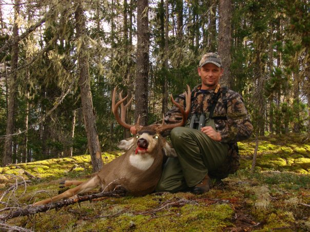 One of the largest black tail bucks ever harvested in British Columbia Canada.