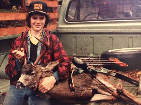 It all started on Vancouver Island with this great 4X5 archery harvested buck. It was the first of many to come.