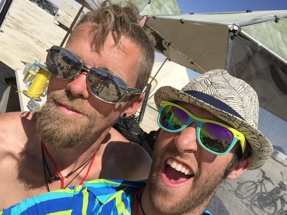 Mr Paulo Wellman and I onsite at Burning Man.