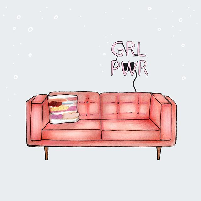 Hey, what's up, hello! 👋🏻 . A super fun little illustrated submission for a contest here in Wpg ... 'cause why not?! #thepinkcouchseries