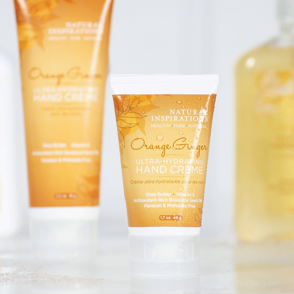 Our Orange Ginger lotion is perfect to start your day as it stimulates the senses and gets you ready to go!