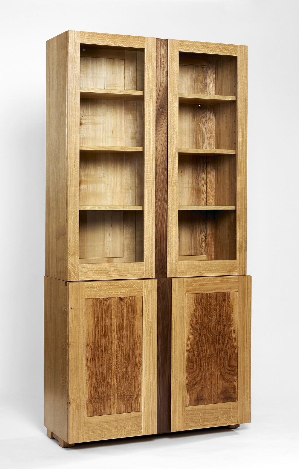 Oak and walnut display cabinet (1).jpg