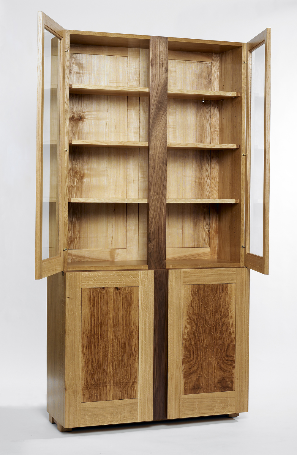 Oak and walnut display cabinet (2).jpg