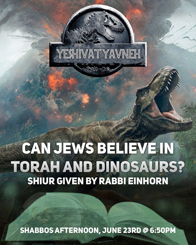 Two new Shabbos Programs! Only @yavnehuniverse #Jurassic